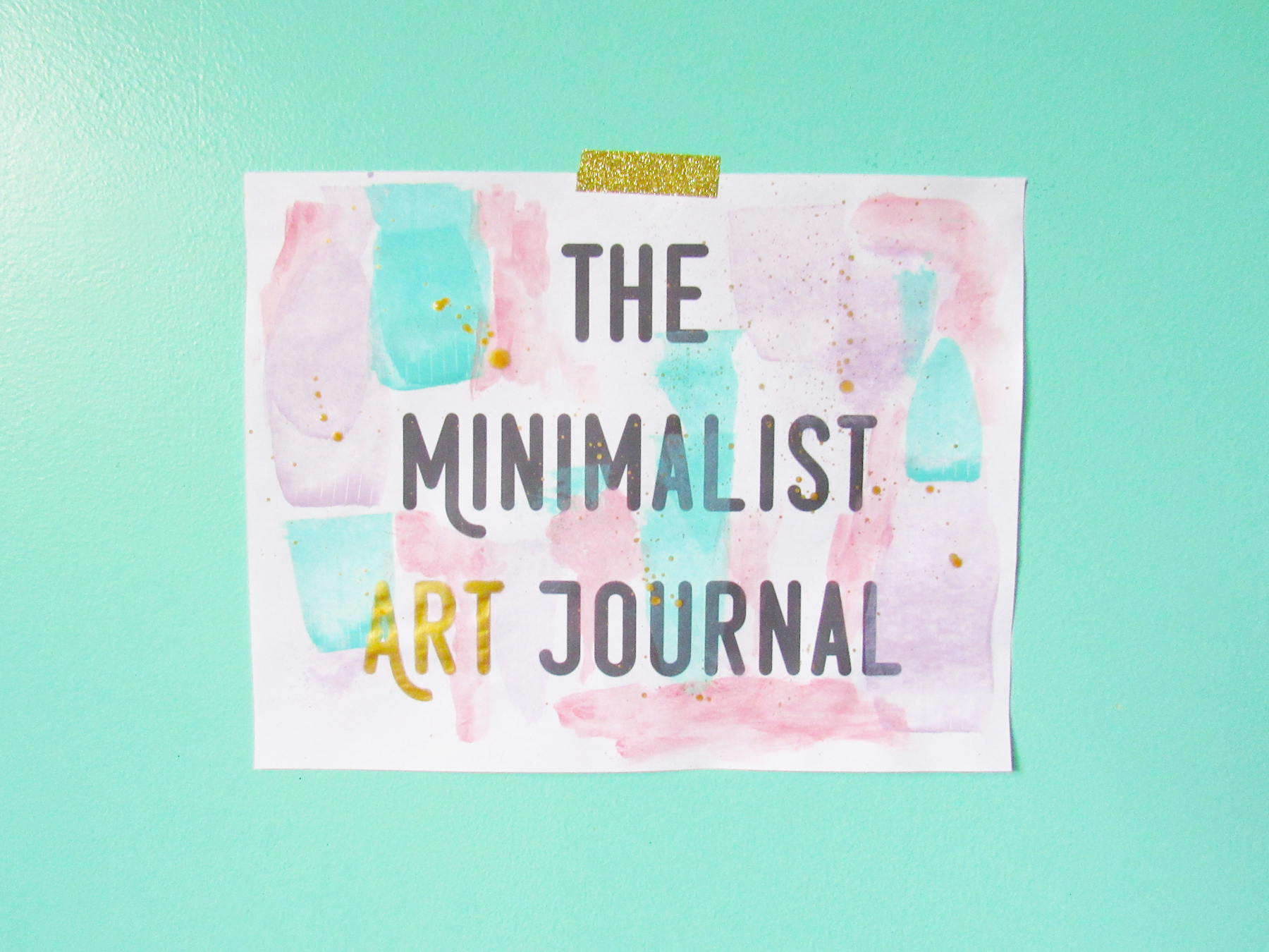 Aerialovely the minimalist art journal ecourse and a for Minimal art journal